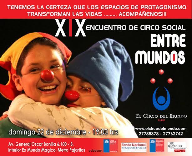 Invitación XIX Encuentro de Circo Social