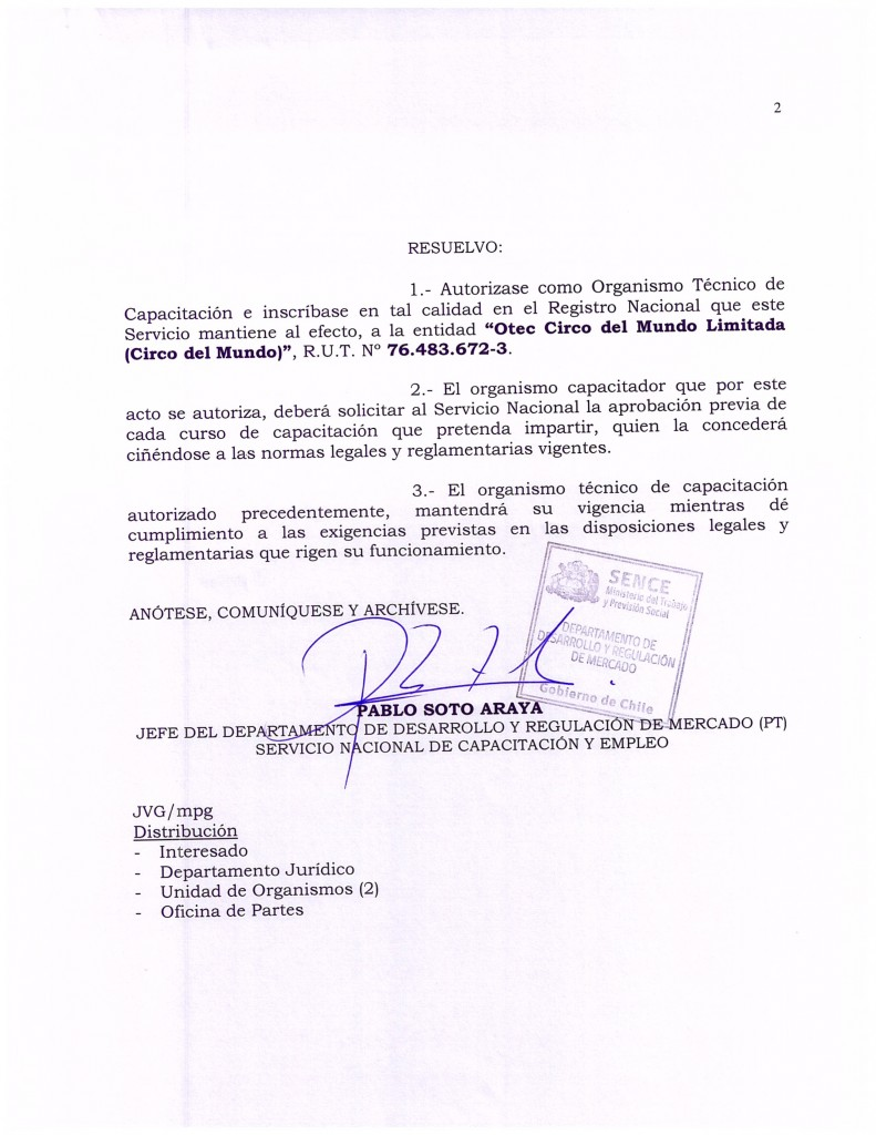 Certificacion OTEC CIRCO DEL MUNDO-2