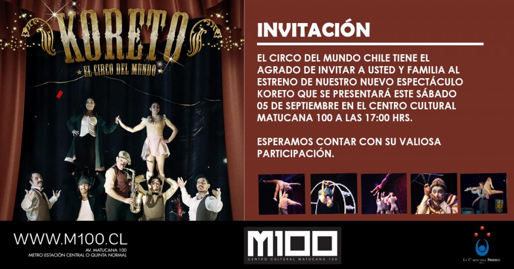 INVITACIÓN KORETO M100
