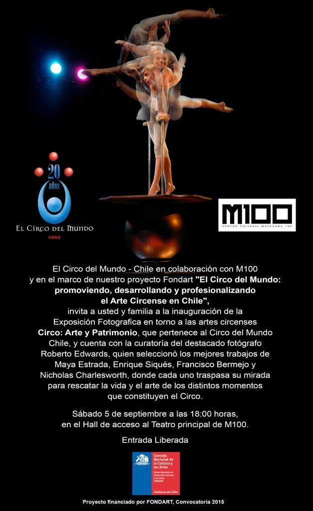 INVITACION EXPOSICION FOTOGRAFIAS CIRCO
