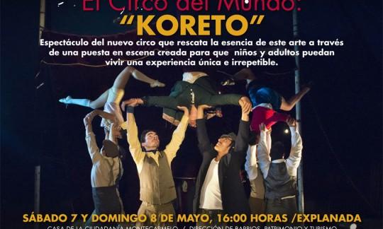 afiche Koreto_Montecarmelo