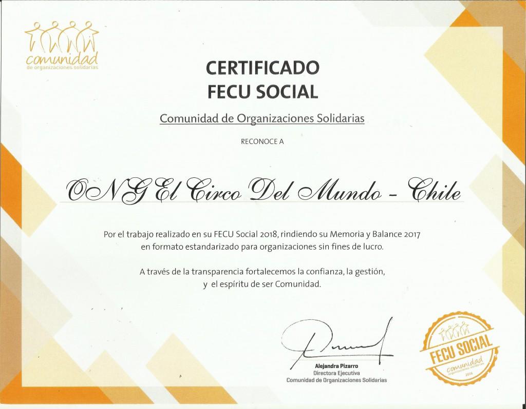 Certificado 2018 por año 2017